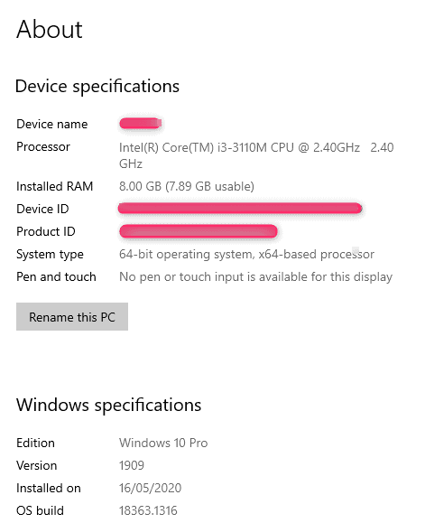 How do I know the make and model of my laptop